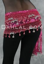 Egyptian hip scarves are more heavily beaded which gives them a nice, lush weight when you dance.  It also supports the artisans in Egypt, where this dance originates.  Dahlal.com always has a great selection.