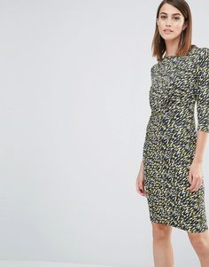 Image 1 ofWhistles Ferrie Twist Front Dress in Print