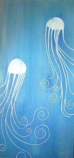 Print of Jelly Fish Painting. $20.00, via Etsy.