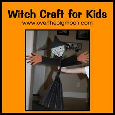 Witch Craft for Kids Tutorial, Halloween craft for kids