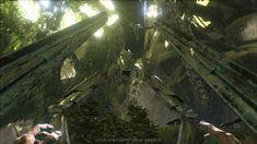 Am Ausgang der Portalhalle in der wundersamen und gefährlichen Welt von Ark Aberration...