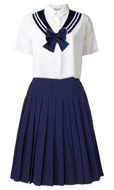 """""""sailor fuku"""" by lexicona ❤ liked on Polyvore featuring art"""