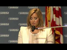 We are so proud of our girl Demi who was honored by the Substance Abuse and Mental Health Services Administration (SAMHSA) for her work as a mentor to young people. Watch her acceptance speech here. Mental Health Awareness Day, Kids Mental Health, Mental Health Services, Demi Lovato Gif, Demi Lovato Quotes, How To Cure Anxiety, Parents As Teachers, Celebs, Celebrities