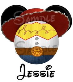 Jessie from Toy Story inspired Mickey Head digital printable file DIY