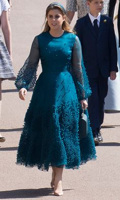 - Photo - Kate Middleton, Meghan Markle, Queen Letizia and Princess Eugenie are some of the stunning royal ladies in our Royal Style Watch end of year special. See photos of their most stylish outfits from 2018 here… Princesa Beatrice, Princesa Eugenie, Princess Eugenie And Beatrice, Meghan Markle, Blue Dresses, Vintage Dresses, Unique Dresses, Long Dresses, Windsor