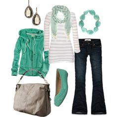 Casual fun.   Love the blue-green.