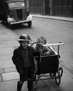 1940 London. In the East End a young boy wears his steel helmet with pride. As a photographer for #LIFE Magazine George Rodger covered many aspects of the Second World War beginning with the London Blitz as it affected the lives of ordinary English people...  Jinx Rodger widow of  #GeorgeRodger/ #MagnumPhotos.  Up Close & Personal: The Most Intimate Photographs from Magnum. Signed estate-stamped #MAGNUMSquare Prints for $100. Available NOW and only until Friday. Link in bio. #intimacy by…
