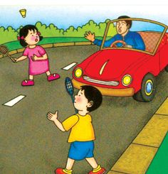 Do not play on the road. Safety Pictures, Road Pictures, Picture Composition, Writing Pictures, Safety Posters, English Class, Poster On, Social Studies, Growing Up