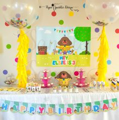 HEY DUGGEE Poster / Backdrop Birthday by PaperSparklesDesign