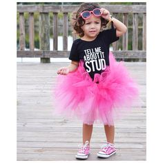 """Little Wonderland Clothing on Instagram: """"Hello...Monday!! Start the week with a little """"Tell me About it How cute Olivia is!""""❤️ I LOVE our Stud Leo with her super cute pink tutu @tinandella + little bracelet from @thebaublefairy ❤️Rock on Monday!#bossy #fashion #fashionista #kidsfashion #girl #pink #streetwear #hiphop #hipkidfashion #trendy #style #igkiddies #stylish #stylishkids #littlewonderlandclothing #love #ootd #harem #iconic #party #dollface #baby #love #fleece #chic #epic"""