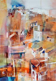 Montecot, Mari Line   The Watercolour biennial artist, [Artiste de la biennale Aquarelle],