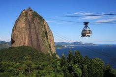 Take a cable car to see the beauty of Brazil from above.