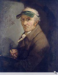 Anton Graff, Selbstbildnis mit Augenschirm, 1813. Öl auf Leinwand, 65 x 51 cm; © bpk / Staatliche Museen zu Berlin, Nationalgalerie. Foto: Andres Kilger