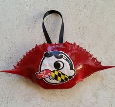 Maryland Painted Crab Shells by SharonsPaintedWoods on Etsy