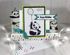 Stampin'Up! Party Pandas Step Card Sale A Bration 2018