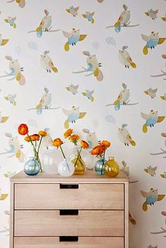 Birds is a popular wall mural category for all rooms and settings. You can count on high quality and fast and free UK delivery with Photowall. Interior Inspiration, Room Inspiration, Scandi Home, Photo Wallpaper, New Wall, Wall Murals, Kids Room, Sweet Home, Presents