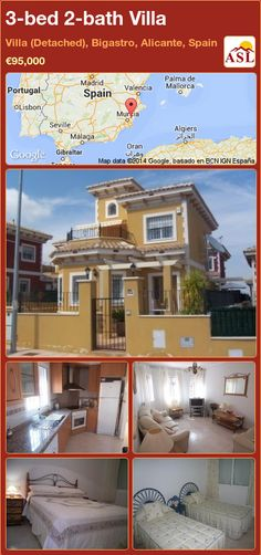 3-bed 2-bath Villa in Villa (Detached), Bigastro, Alicante, Spain ►€95,000 #PropertyForSaleInSpain