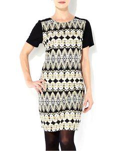$55  http://1tagdeals.com/fashion/shop/wallis-aztec-printed-tunic-dress-black-multi-10/  WALLIS Aztec Printed Tunic Dress – BLACK MULTI