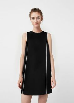 Contrast trim dress - Dresses for Women Casual Summer Dresses, Simple Dresses, Casual Dresses For Women, Nice Dresses, Short Dresses, Kurta Designs, Looks Style, Minimal Fashion, Classy Outfits