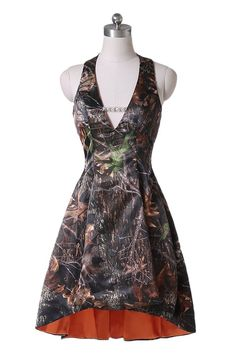 orange camo wedding dress | Mossy Oak New Breakup Attire ...