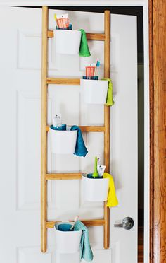 Make a morning routine organizer out of this cute plant stand! Working with @IKEAUSA