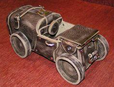 Автомобиль из кожи. Автор Смирнов Олег Анатольевич. genuine leather. car. Oleg Smirnov