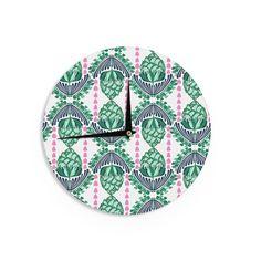Kess InHouseAmy Reber 'Tassles' Line Illustration Wall Clock