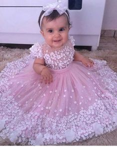 Beautiful Baby Pink Pale Pink Light Pink Flower Girl Tutu Dress Embellished with. Baby Girl Birthday Dress, Baby Girl Party Dresses, Girls Tutu Dresses, Tutus For Girls, Little Girl Dresses, Tutu Skirts, Flower Girls, Flower Girl Tutu, Flower Girl Dresses
