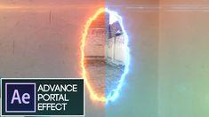 After Effects Tutorial:VideoCopilot SABER Plug-in PORTAL EFFECT:(Easiest...