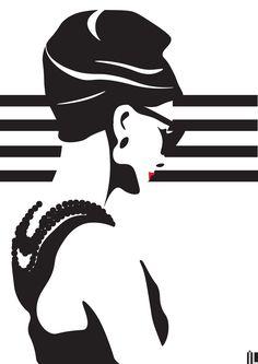 #ilartegrafica #ivanlitenskiartista #ilustracao #ilustracaodigital #illustration #illustrator #minimal #minimalista #minimalart #minimalillustration #audreyhepburn #tiffany #bonequinhadeluxo