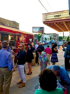 The good times keep on coming! The Taza Truck parked outside Civic Theatre June 6, to pair with the opening of CHEF. Their fresh Egyptian cuisine was delicious!