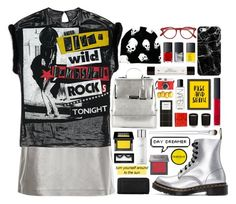"""""""Rise and shine bombshell"""" by vendre-du-reve ❤ liked on Polyvore featuring New Look, Dr. Martens, Casetify, NARS Cosmetics, philosophy, Urban Decay, Make, Americanflat, Cutler and Gross and COLORSMASH"""