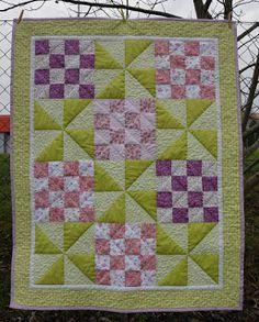 Hand Made by Vave: patchwork: Deka pro Adélku - Zmrzlinová