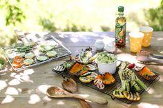 Grilovaná zelenina s avokádovým dressingom
