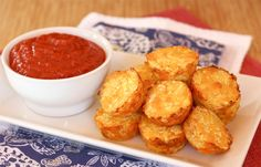 """UPDATE:  used pork rinds for the binder .... good choice.  These were the best """"tots"""" I have tried.  Baked Cauli-Tots 