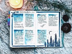 "1,168 Likes, 12 Comments - Jenny (@jennyjournals) on Instagram: ""My spread from my last week of November. Totally forgot to post this picture earlier! Used indigo…"""