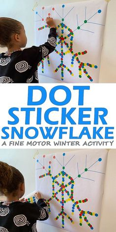 Dot Sticker Snowflake Dot Sticker Snowflake – HAPPY TODDLER PLAYTIME Here is an easy to set up fine motor winter activity. Let your toddler or preschooler decorate a snowflake using dot stickers! Includes step by step guide to draw a snowflake! Winter Activities For Kids, Winter Crafts For Kids, Winter Fun, Christmas Activities, Toddler Activities, Learning Activities, Winter Crafts For Preschoolers, January Preschool Themes, Snow Activities