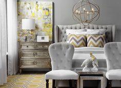 Hampton Stripe Bedding - Grey | Bedding | Bedding-and-pillows | Z Gallerie