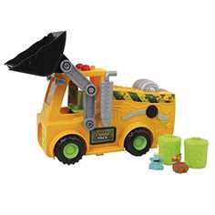Amazon.com: The Trash Pack Series - The Load n' Launch Bulldozer Set - Playset Toy Includes 2 New Exclusive Gang Trashies: Toys & Games