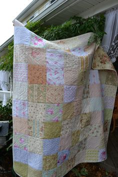 Handmade Patchwork Quilt Cottage Chic by TrueloveQuiltsForYou