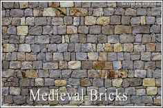 30 New Medieval Brick Textures (80 photos) available on texturewave.com