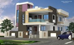 2bhk House Plan, Model House Plan, Porch House Plans, Duplex House Plans, New House Plans, Small House Plans, House Design Drawing, Bungalow House Design, House Front Design