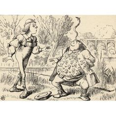 Father William Balancing An Eel On His Nose Illustration By John Tenniel From The Book Alicess Adventures In Wonderland By Lewis Carroll Published 1891 Canvas Art - Ken Welsh Design Pics (34 x 24)