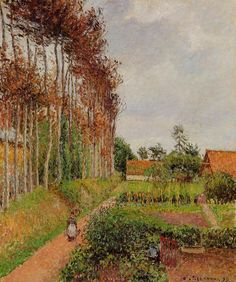 Camille Pissarro The Field by the Ango Inn, Varengeville, 1899 modern painting sale, painting Authorized official website Renoir, Claude Monet, Paul Cezanne, Camille Pissarro Paintings, Pissaro Paintings, Gustave Courbet, Mary Cassatt, Impressionist Artists, Post Impressionism