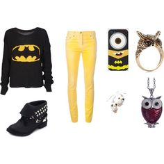 "This is just PERFECT!!  ""Batman"" by break-through on Polyvore!"