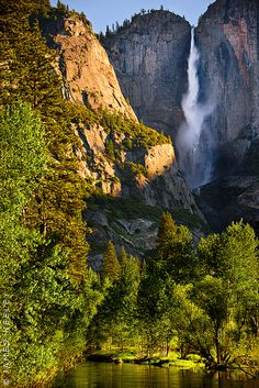 Falling For You, Upper Yosemite Fall at first light.