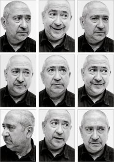 Christian Boltanski, photographic self-portraits in grid format