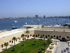 A View of the East harbour of Port Alexandria, Egypt
