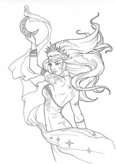 Oh Goddess ~ House of Night Coloring Book