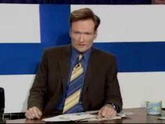 Conan O'Brien 'Hates Sweden! (It sucks) 6/8/04